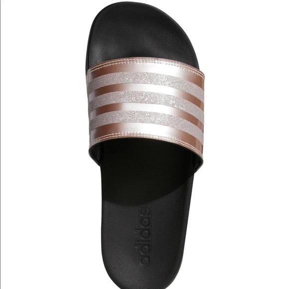 adidas rose gold sandals